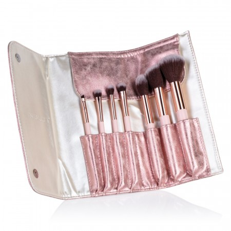 BRUSH SET MARBLE PINK - 7 pcs
