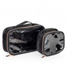 MAKEUP BAG WITH WHEELS BALCK & ROSE GOLD KC-P46S thumbnail